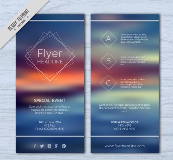 Free Blur Landscape Flyer Design