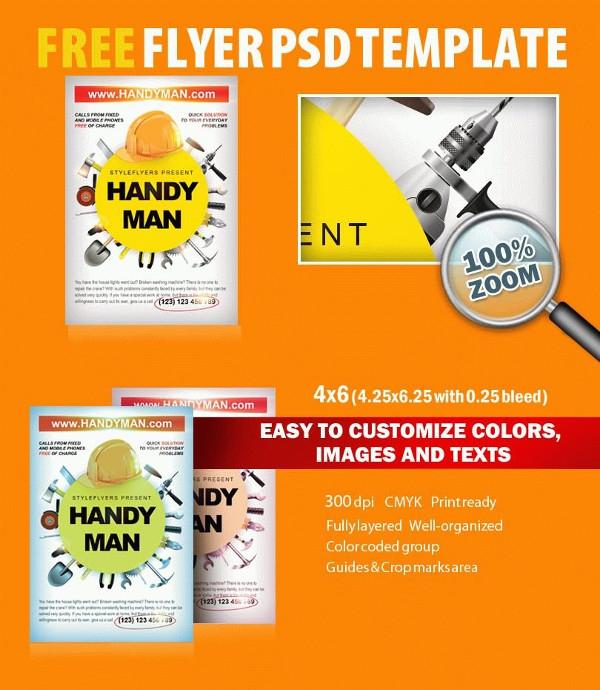 Free Handyman PSD Flyer Template