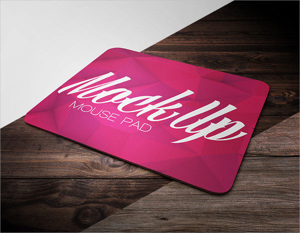 Free Mouse Pad Mockup in PSD