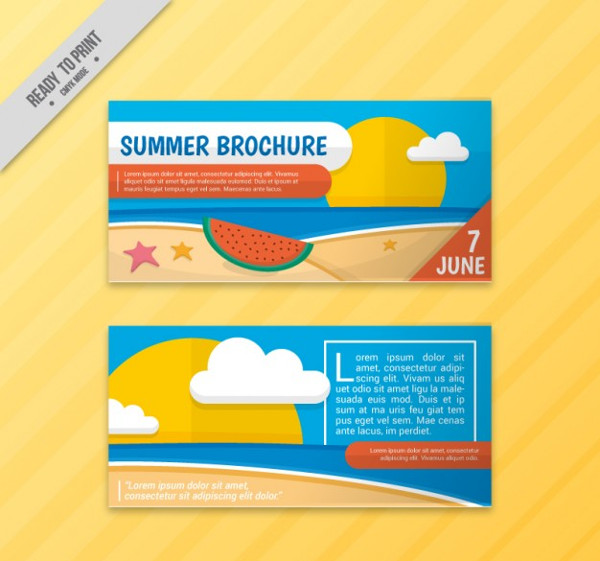 Free Summer Landscapes Flyer