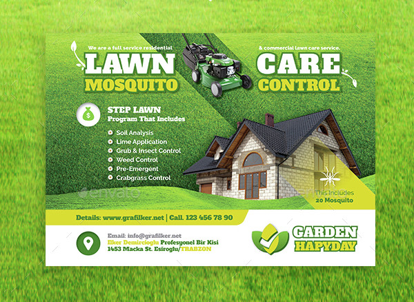 Garden Landscape Maintenance Flyer Templates