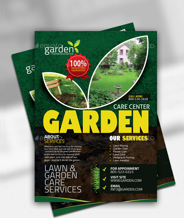 Garden Trimming Landscape Flyer