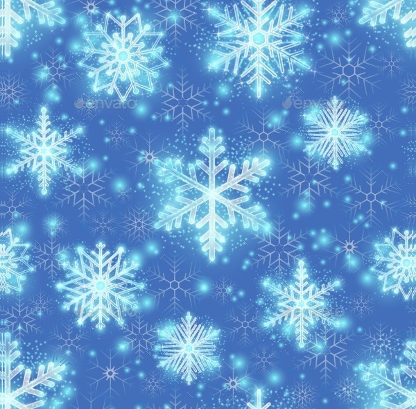 Glitter Background With Snowflakes