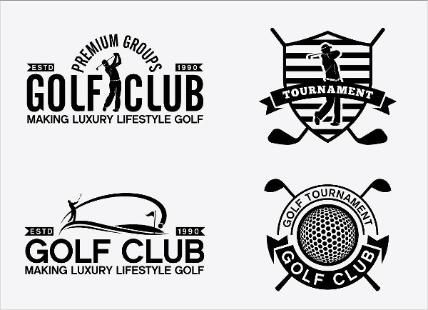 Golf Sport Badges Stickers & Logos