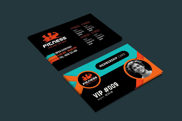 Gym Fitness Membership Cards Design