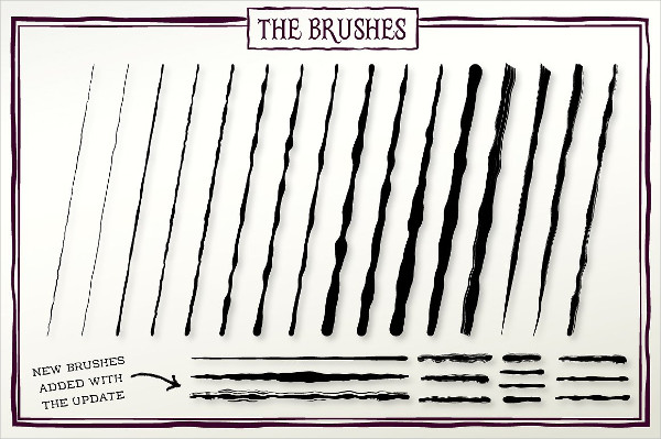 Hand Drawn Ink Sketch Brushes