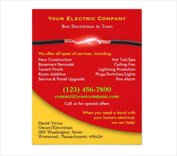 High Quality Electrical Service Flyer