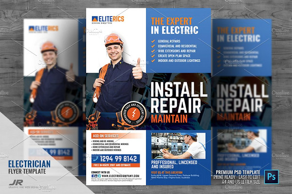 High Quality Electrical Services Company Flyer