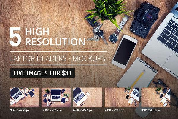 High Resolution Laptop Mockup Set