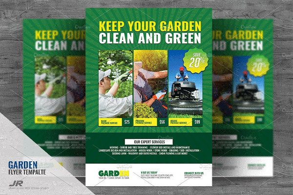 High Quality Landscaping Advertising Flyer