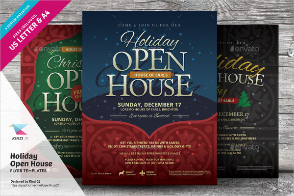 Printable Holiday Open House Flyers