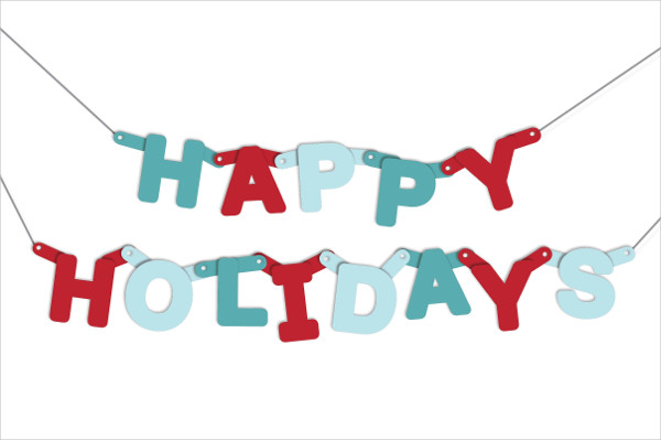 Holiday Party Banner Vector