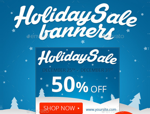 Printable Holiday Sale Banners