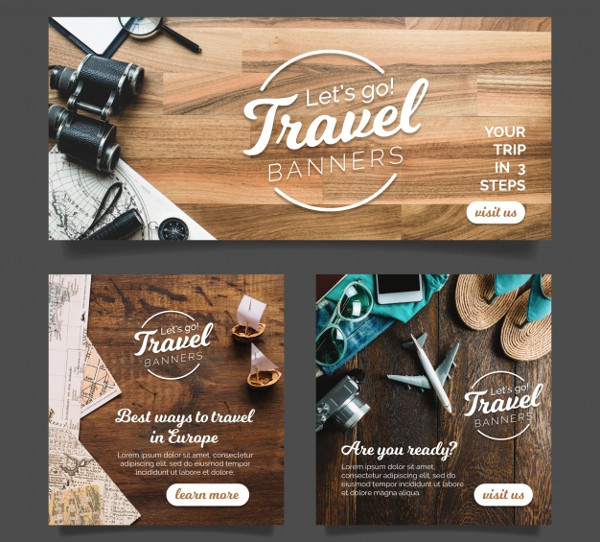 Holiday Travel Banners with Photography Free