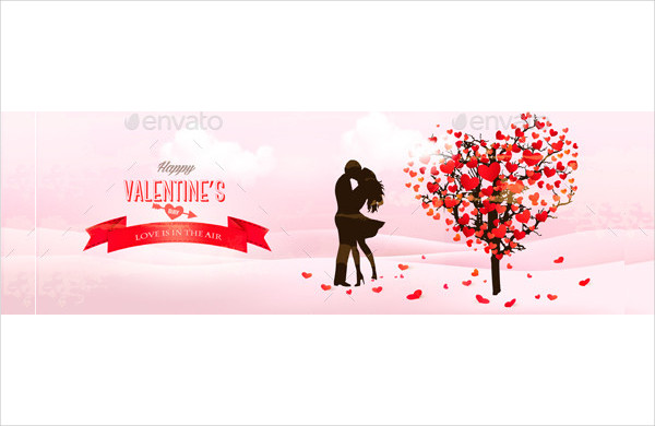 Holiday Valentine Banners Vector