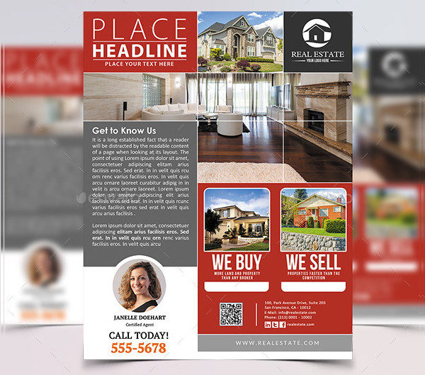 House for Sale Business Flyer Template
