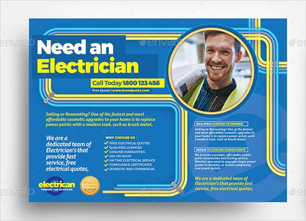 Best Electrician Flyer Template