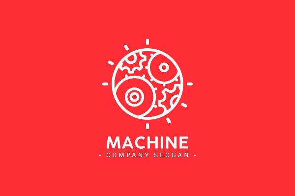 Custom Machine Vector Logo