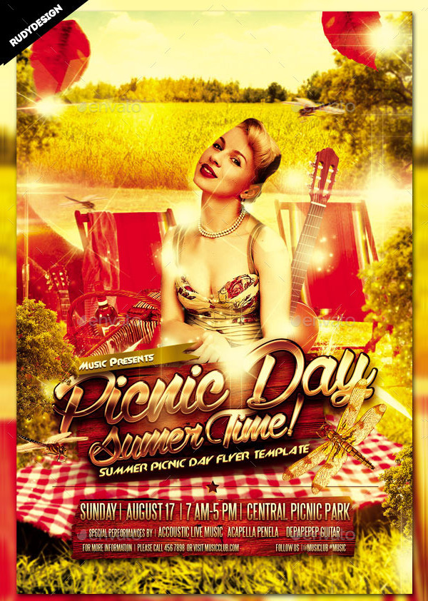 Best International Picnic Day Flyer Template
