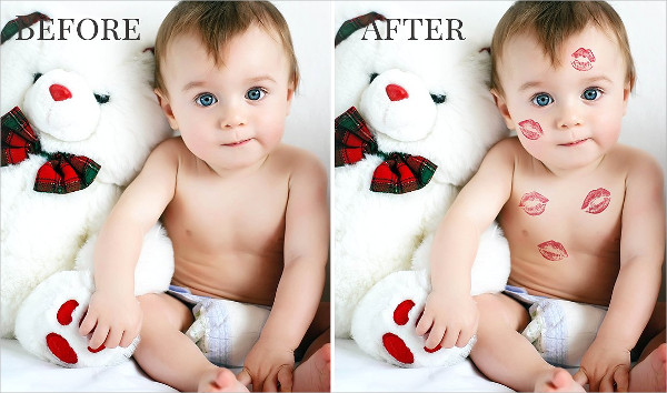 Kiss Overlays Baby Photoshop Actions