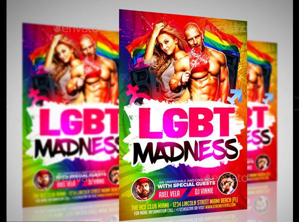 LGBT Flyer PSD Template