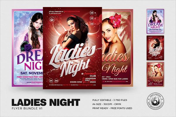 Ladies Night Flyers Bundle
