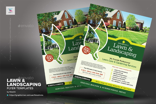 Professional Lawn & Landscaping Flyer Templates
