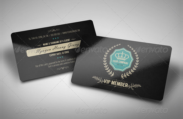 Luxury Retro Membership VIP Card