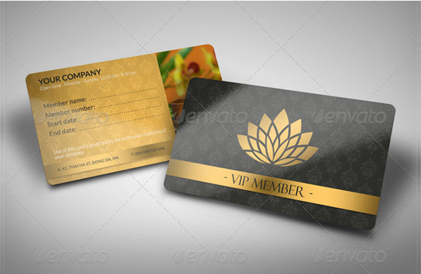 Luxury Spa Member Card Template