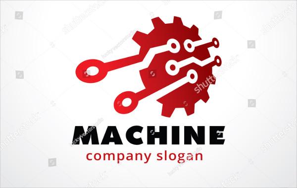 Machine Logo Template Design