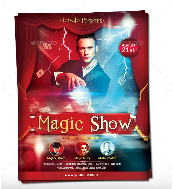Best Magician Flyer Template