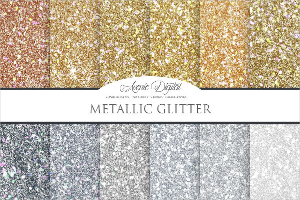 Metallic Glitter Background Textures