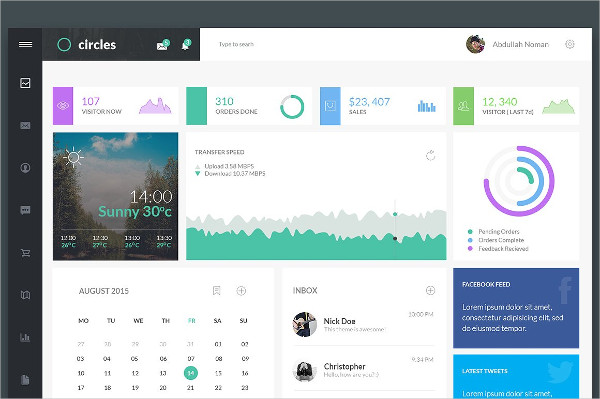 Minimal Dashboard Template