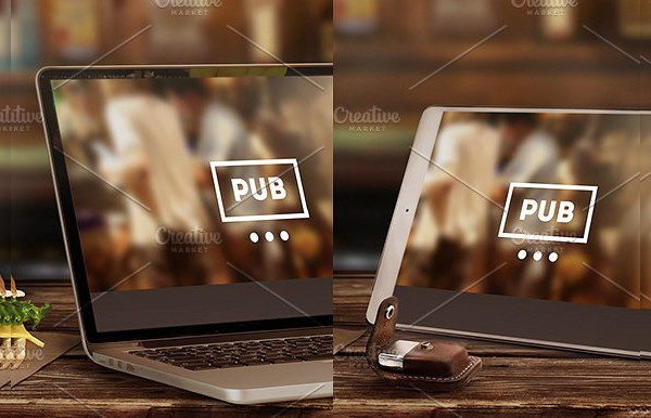 Mock-Up of Laptop & Tablet