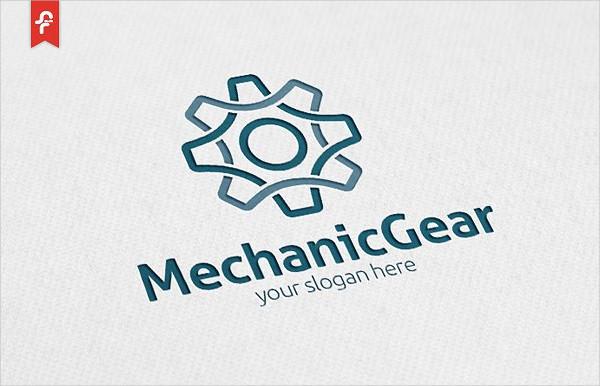 Modern Mechanic Gear Logo