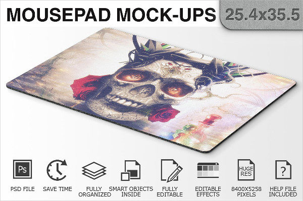 Mouse Pad Display Mockup