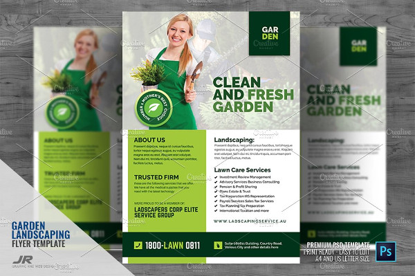 Unique Garden and Landscaping Flyer Templates