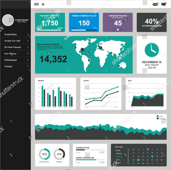 One Page Dashboard Template Design