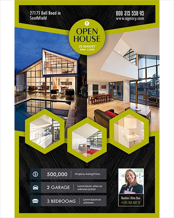 Open House Real Estate Free Flyer Template