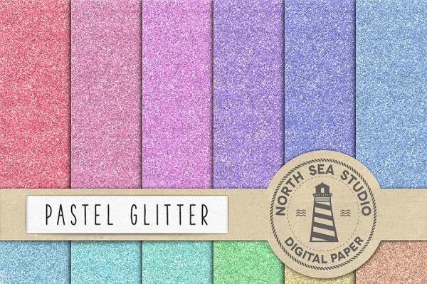 Pastel Glitter Backgrounds