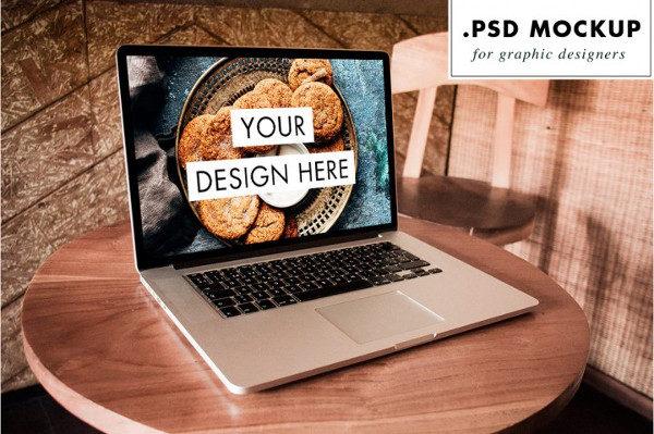 Photoshop Laptop Mock-Up