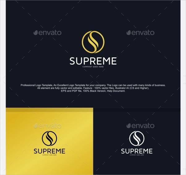 Popular Supreme S Logo Template