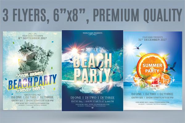 Professional Beach Party Flyer Bundle