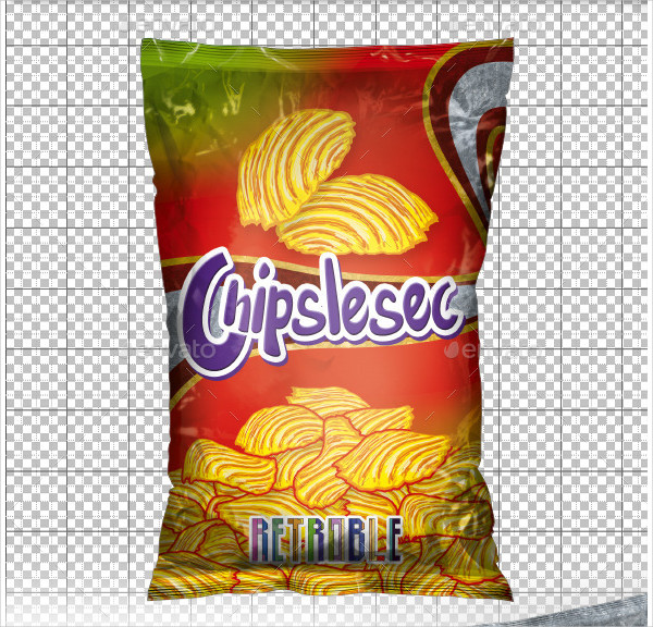 Realistic Chips Packaging Mock Up PSD