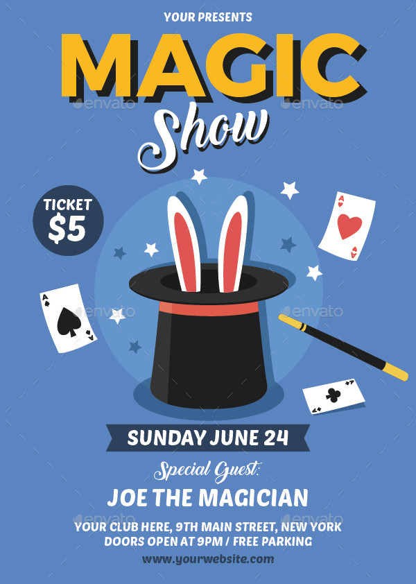 Retro Magic Show Flyer