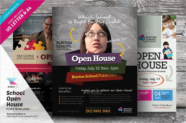School Open House Flyers