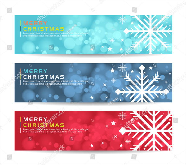Set of Fancy Holiday Banner Templates