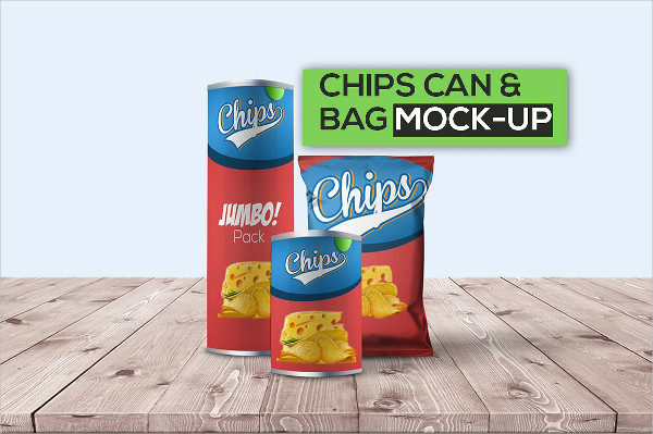 Simple Chips Can & Bag Mock-Up