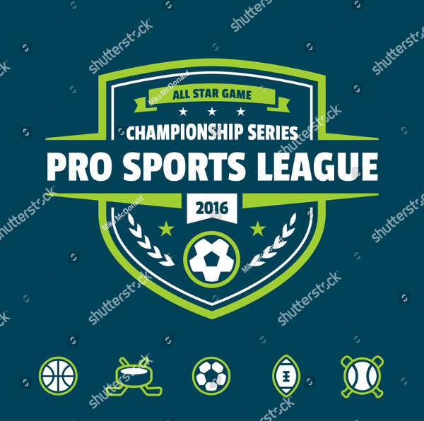 Sports Athletic League Event Badge