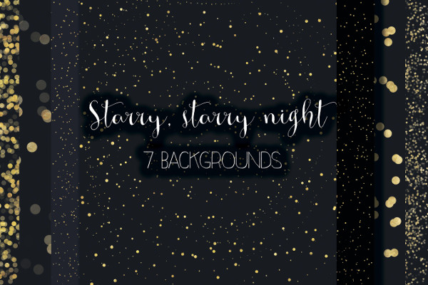 Starry Night Glitter Backgrounds